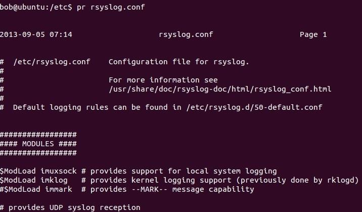 linux pr command