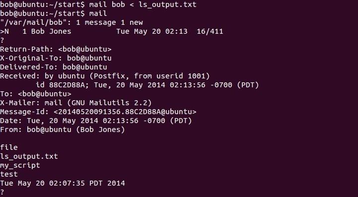 linux redirect input