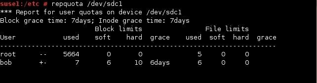 linux repquota command