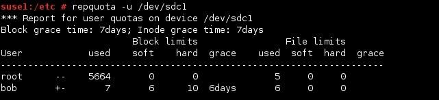 linux repquota user quota
