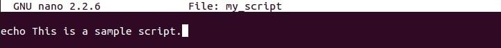 linux sample shell script