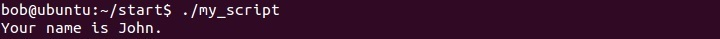 linux sample script execute
