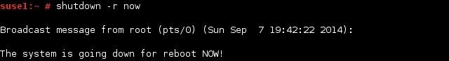 linux shutdown command reboot