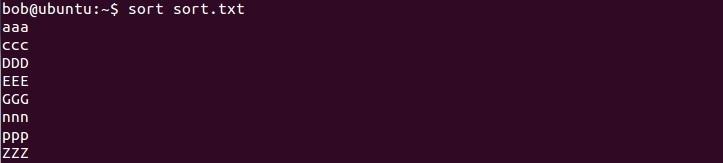 linux sort command