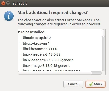 synaptic mark additional changes