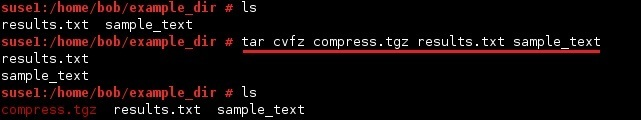 linux tar compress archive