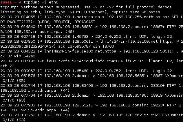 linux tcpdump interface