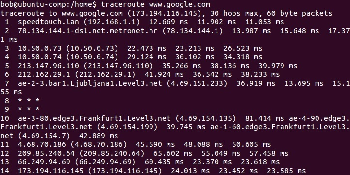 linux traceroute command