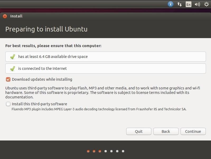 ubuntu prepare installation