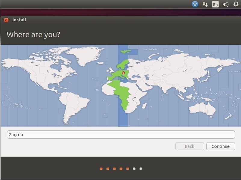 ubuntu select location