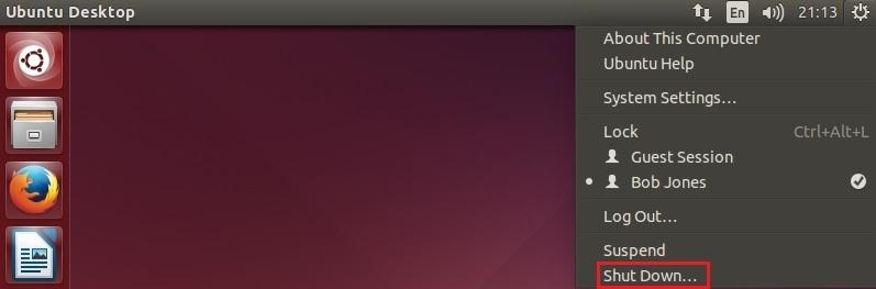ubuntu shutdown