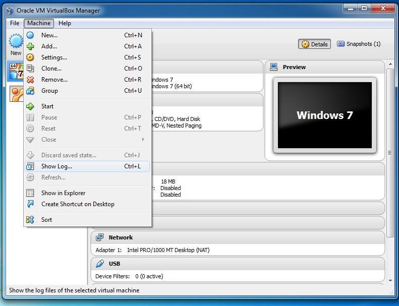 virtual machine log files
