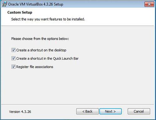 VirtualBox shortcut