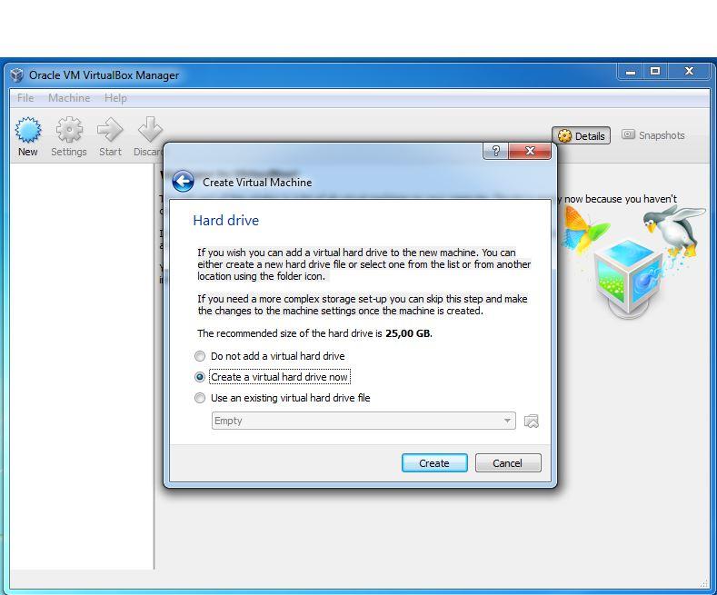 Virtual Machine hard drive
