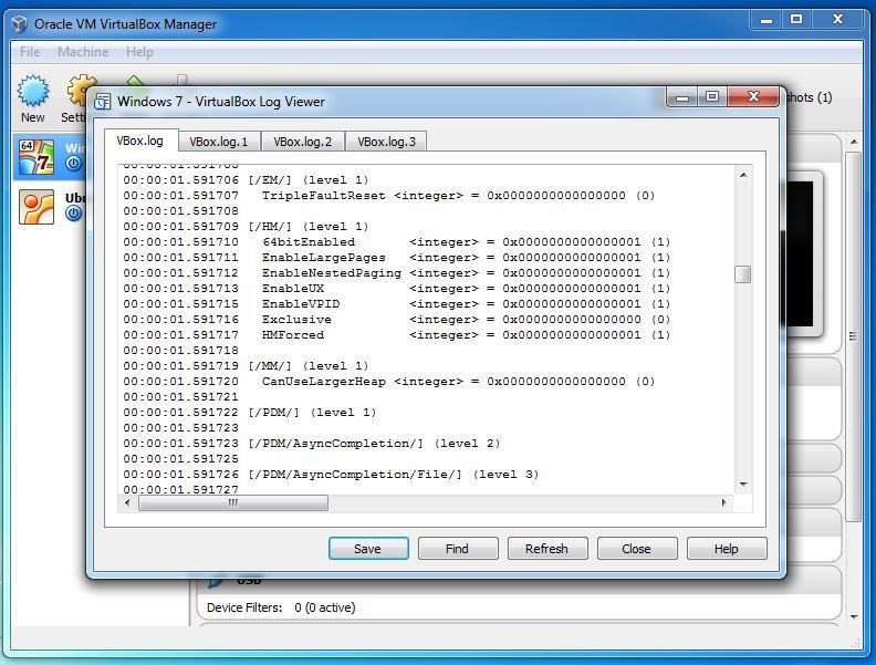 virtualbox-log-viewer