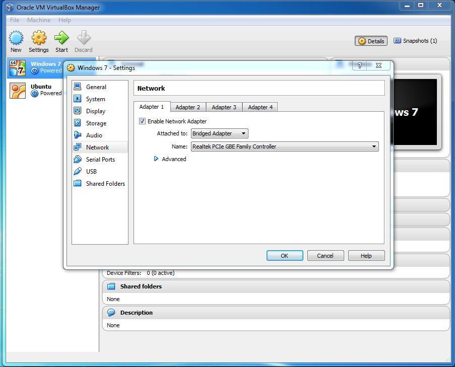 Configure bridged networking | Oracle VirtualBox