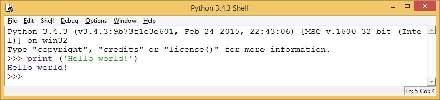 python idle example
