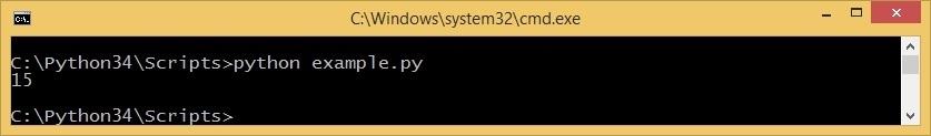 run python code cmd