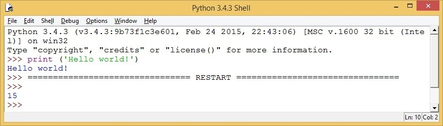 run python code idle shell