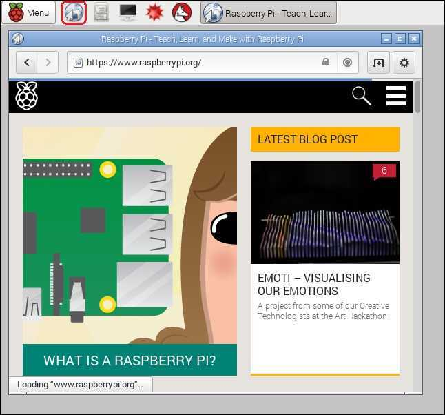 Raspbian web browser - To be 21 years old today