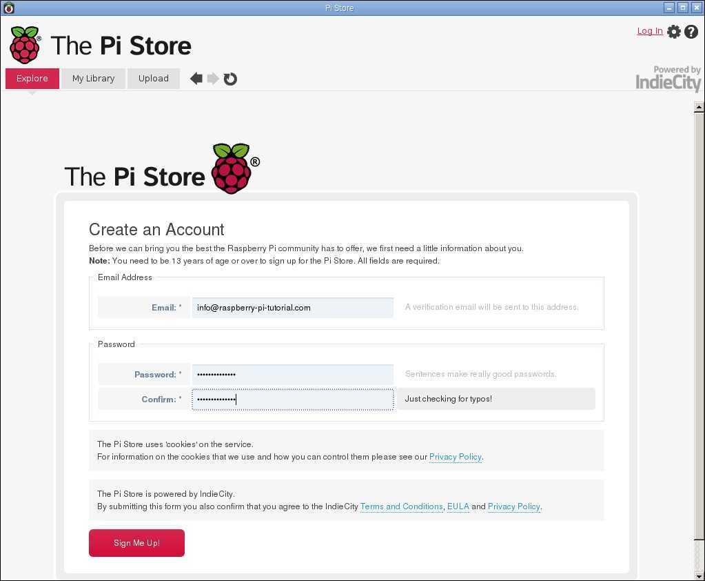 pi store register information