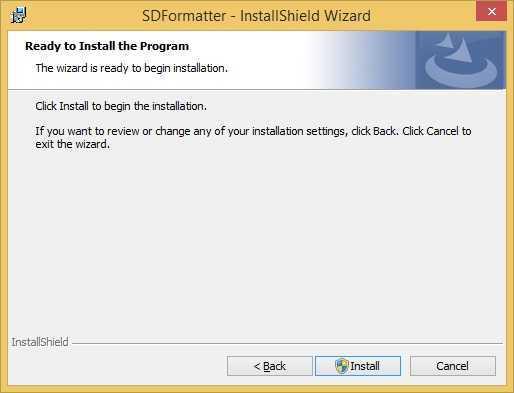 sd formatter install install