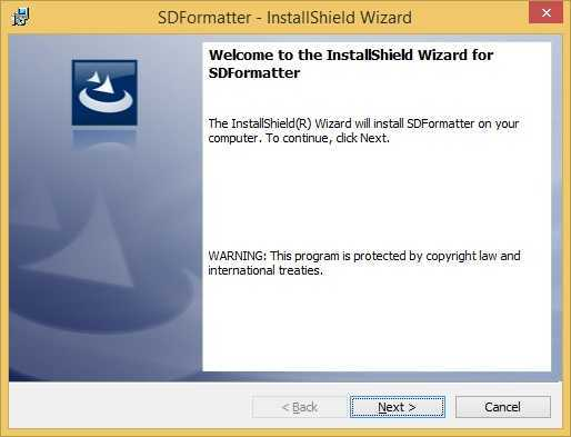 sd formatter start wizard