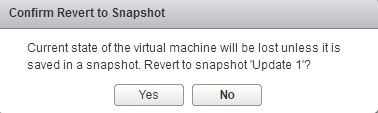confirm reverting to snapshot