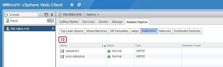 Configure NFS datastore | VMware ESXi