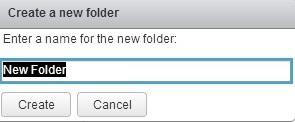 create new folder datastore name