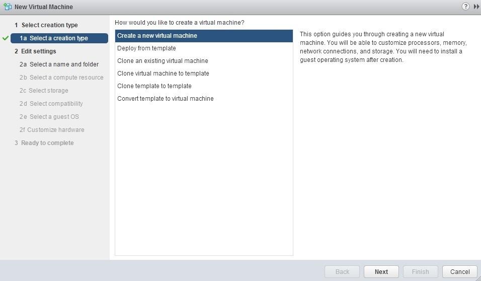 vmware how to create a new virtual machine