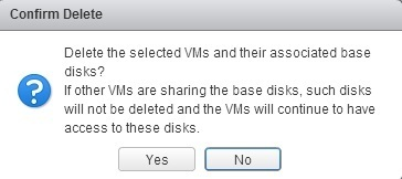 Remove virtual machine | VMware ESXi