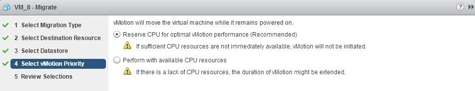 enhanced vmotion vmotion priority