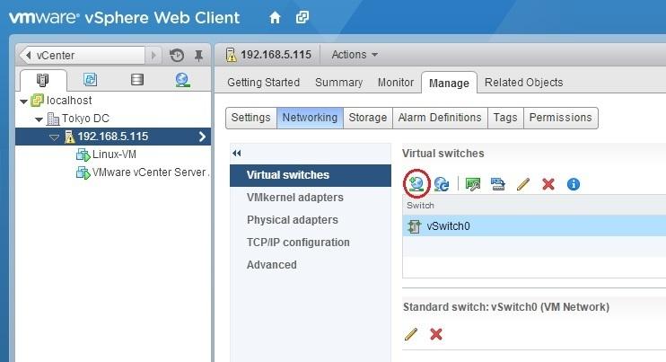 esxi add host networking