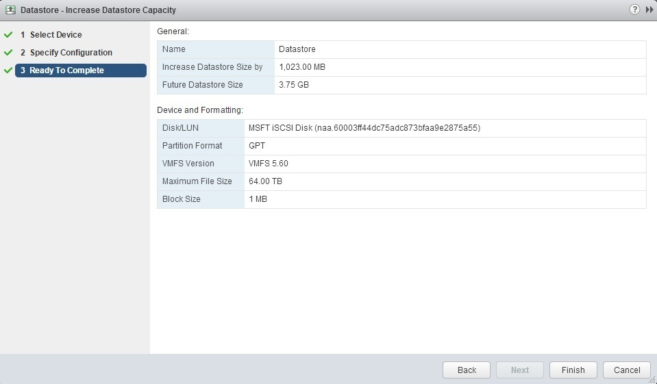 expand datastore