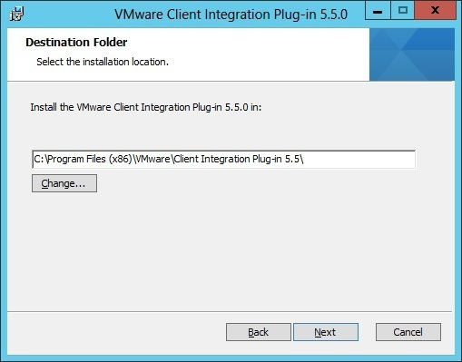 install client integration plug in destination directory