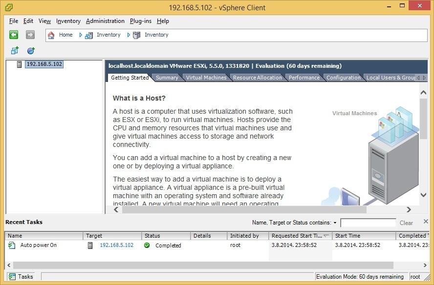 Vmware vsphere client 5
