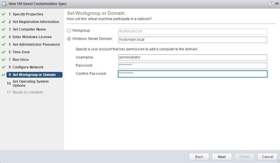 new customization specification domain