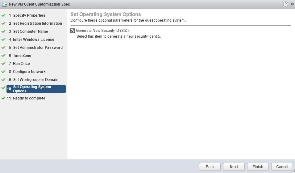 new customization specification sid