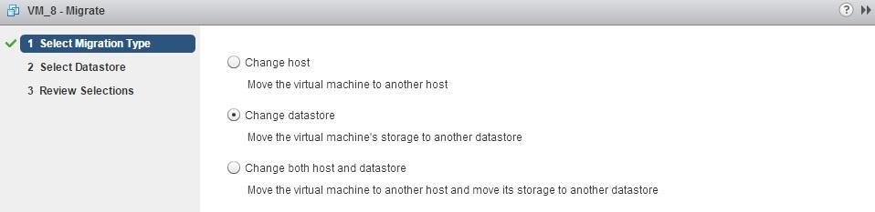 storage vmotion change datastore