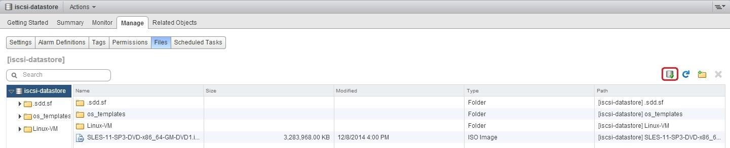 upload a file datastore