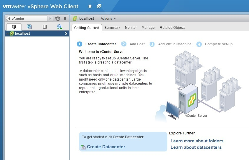 vcenter server hosts and clusters