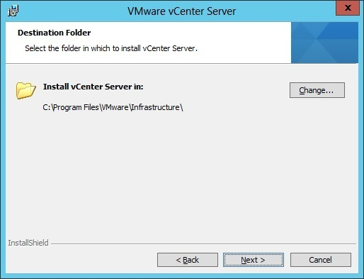 vcenter server installation folder