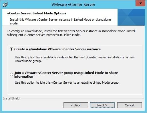 vcenter server installation linked mode