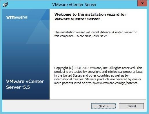 vcenter server installation welcome