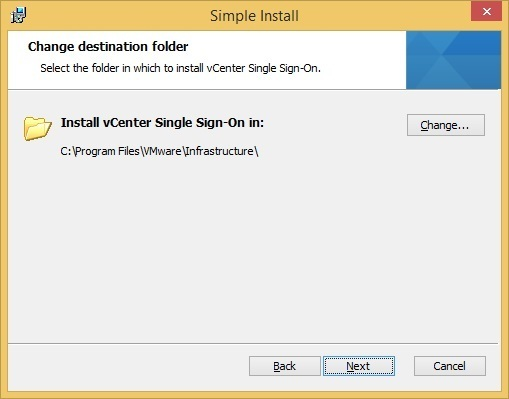 vcenter sso custom installation location