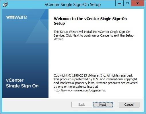 vcenter sso custom installation setup