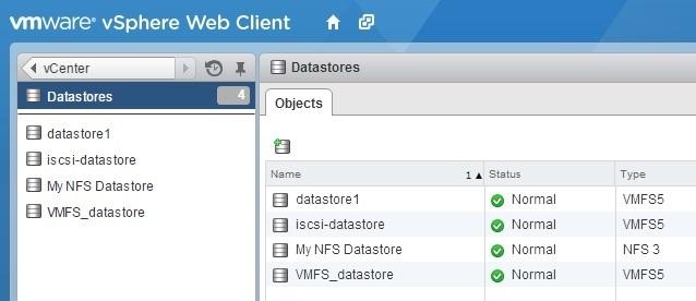 view datastores