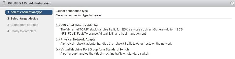 virtual machine port group