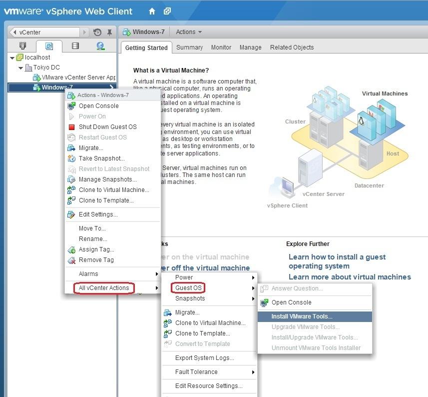 vm install vmware tools